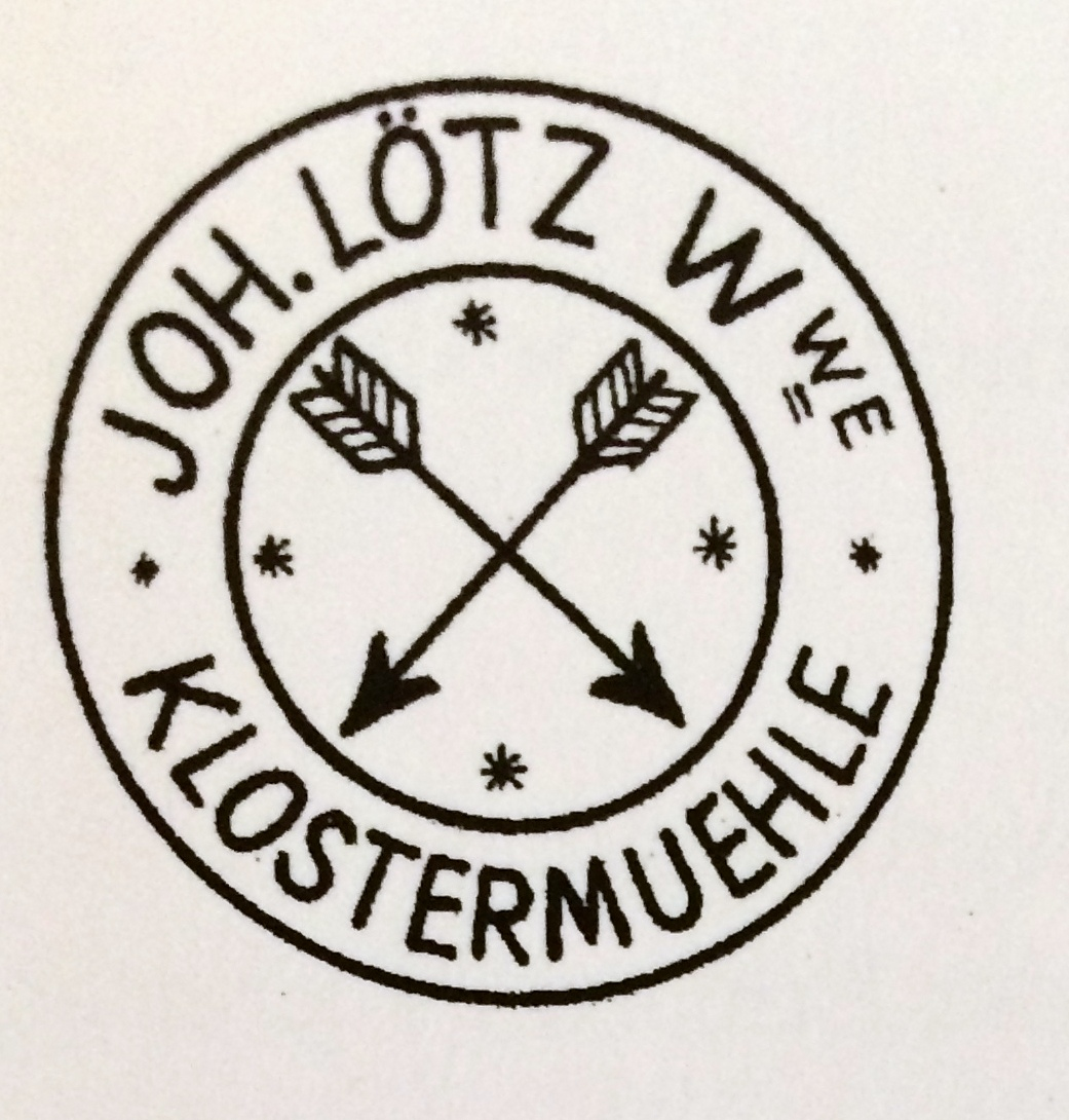 Loetz Paper label with registered trademark used prior to 1898