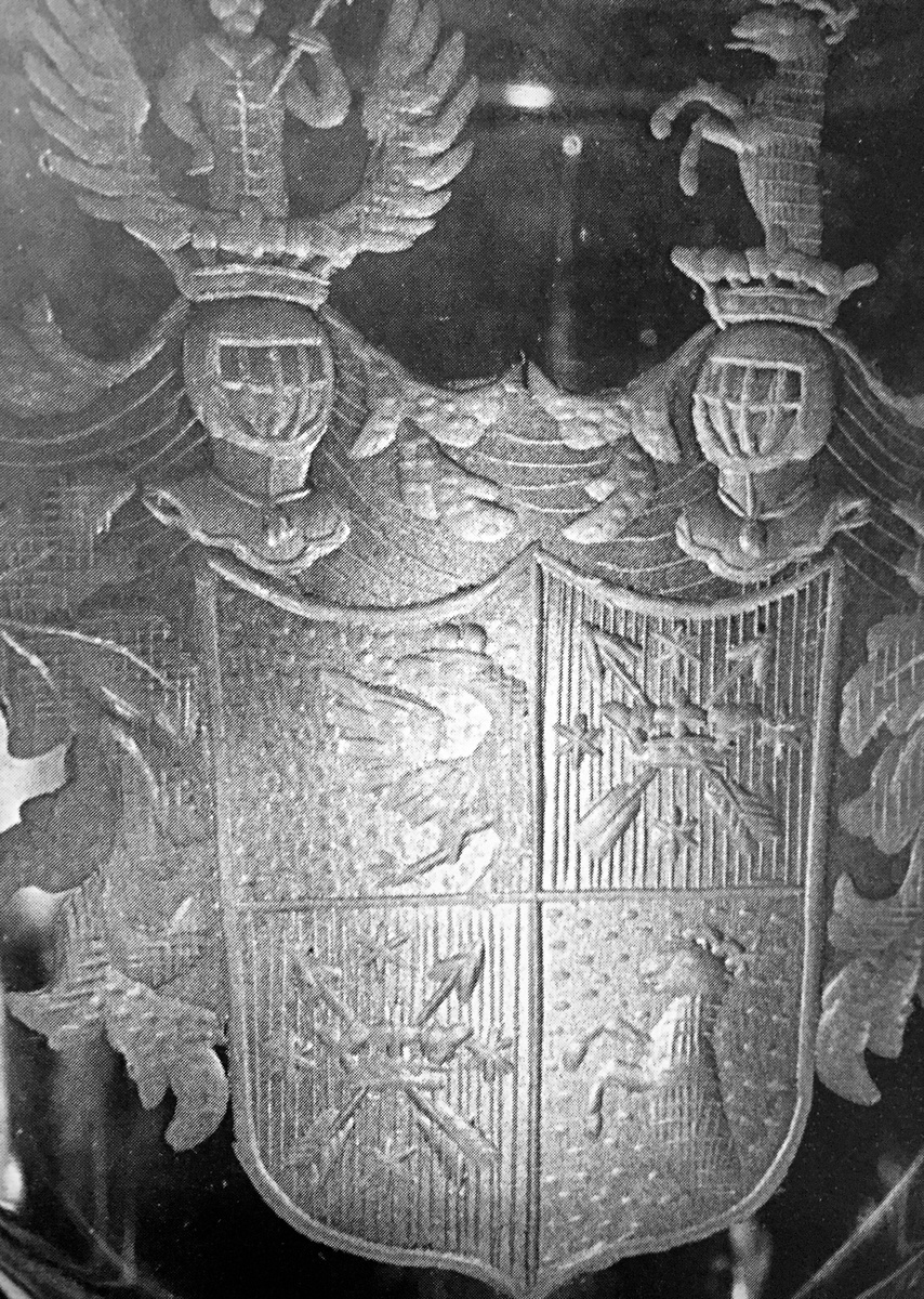 VonSpaun coat of arms engraved on a pokal