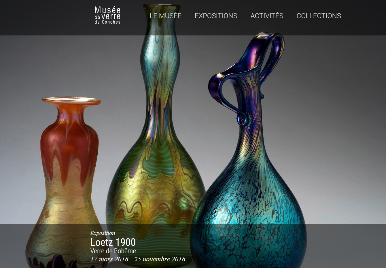 Loetz Exhibition at the Musee du Verre de Conches